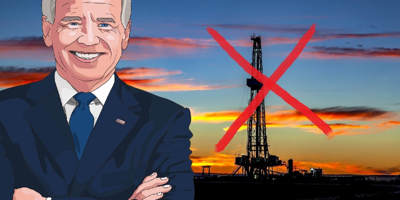 BIDEN TO HALT OIL AND GAS LEASES ON FED LANDS