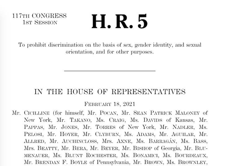 ALARMING & POTENTIALLY CHILD-HARMING ISSUES IN THE NEWLY PASSED HR 5 OF THE 117TH CONGRESS