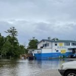 OWNER STILL RECOVERING, WHILE RIVER RISES