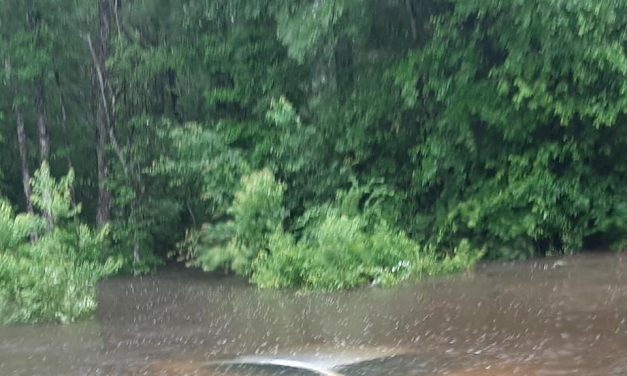 first DAY FLOODING – day 1 of a week of rain to come