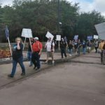 ESCALATION? PICKETER HIT BY TRUCK AT EXXON MOBIL